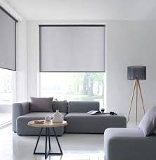 Semi-transparent roller blinds, modern way of interior shading.