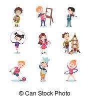 hobbies for kids. children hobbies set for kids
