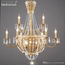 crystal chandeliers royal empire gold crystal chandelier light fixture french lights lighting dining room restaurant lamparas glass chandelier drum