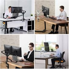 Buy Height Adjustable 3 in 1 Laptop Monitor Stand Compatible with 13 to  17.3 inch Laptop, Hold 2 Monitors 11 to 27 inch with Vesa, Monitor Desk  Stand arm Riser Mount Stand Workstation (Black) Online in Vietnam.  B01JE28O6Q