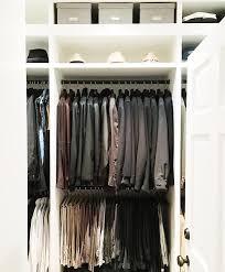 mens closet with hat shelf
