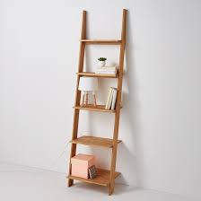 domeno solid oak wall mounted ladder shelf unit oak la redoute interieurs la redoute