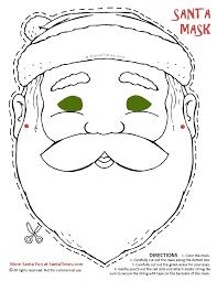 Santa Mask Coloring Page