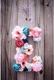 flower letter wall art decor