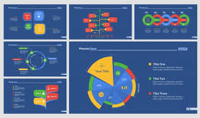 Strategy Presentation Six Strategy Presentation Templates Set Vector Free Download