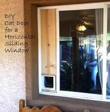 cat door for sliding window with easy ideas build your own cat door for a horizontal cat door for sliding