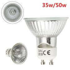 240v 50w Gu10 Light Bulb 1 5 10pcs X Gu10 50w 35w Halogen Spot Light Bulbs 220 240v 2700k Warm White 55mm