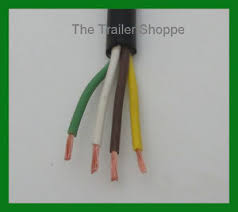 trailer light cable wiring harness 14 4 14 gauge 4 wire jacketed install 4 wire trailer harness image is loading trailer light cable wiring harness 14 4 14