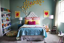 ... Teen Bedroom Decorating Ideas Simple Interior Design With Small Window  And Awesome Library On The Room ...