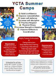 Summer Camp Weekly Schedule Summer Camp Schedule Discipline Respect Honesty Yi Champions