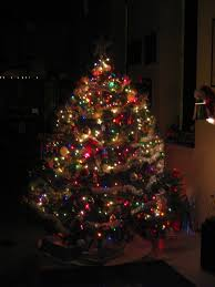 Christmas Tree With White And Multicolor Lights We Do A Mix Of White And Colored Lights On Our Tree We Set