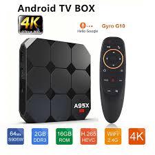 Android TV Box A95X R2 Amlogic S905W 2GB 16GB 4K 1080P HD WIFI 2.4G Smart TVBOX  YouTube Google Store Media Player Set Top Box|Set-top Boxes
