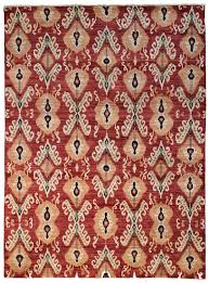 classic red ikat rugs for floor living room decor