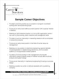 Objectives For Resumes Magnificent Professional Objectives For A Resume Sample Objectives On Resumes
