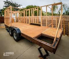 when they quit their jobs to move into this house no one building a tiny house on a trailer