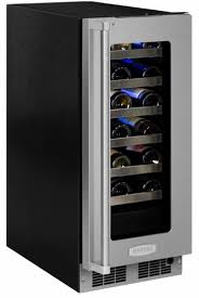 mp15wsg4rs marvel 15 professional right hinge glass door frame high efficiency single zone wine refrigerator with