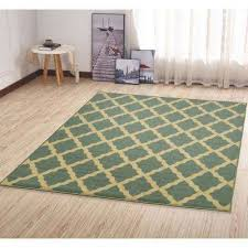 ottohome collection contemporary moroccan trellis design sage green 5 ft x 7 ft area