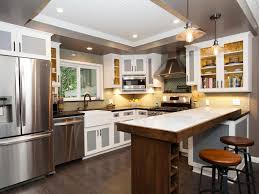 view in gallery white recessed ceiling in a grey kitchen