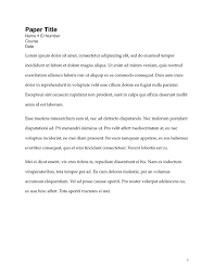 Simple Term Paper Layout