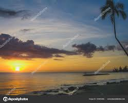 Sunset At Laniakea Beach Stock Photo Focqus 195503066