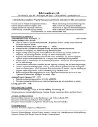 Property Management Resume Keywords Free Resume Example And