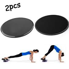 sliders gliding discs dual sided use on carpet or hardwood floors abdominal exercise equipment 2pcs black core abdominal trainers amazon canada