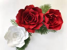 Red Paper Flower Diy Paper Flower Kit Giveaway Paperflora