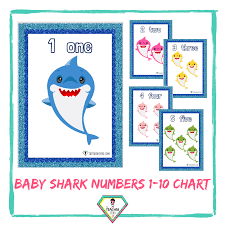 Teacher Resource Baby Shark Numbers 1 10 Charts The Teacher Hero
