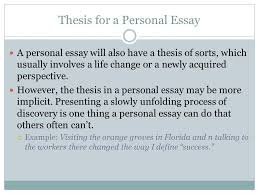 ms olson writing an academic essay types of essays inquiry  thesis for a personal essay a personal essay will also have a thesis of sorts