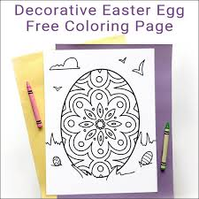 Free Decorative Easter Egg Coloring Page For Kids And Adults