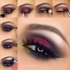 s did you know that these days in bridal makeup maroon smokey eye makeup is highly useable you can also choose it for you brida