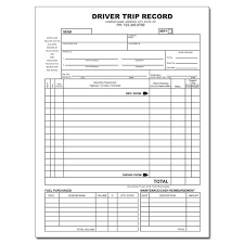 Truck Driver Trip Record Company Business Cards Invoice