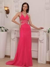 La Femme Prom Dresses Size Chart Backless Hot Pink Halter Cheap La Femme Prom Dresses Gowns