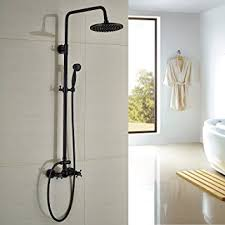 bronze rain shower head with handheld. rozin bathroom shower faucet set 8\u0026quot; rain head + hand spray oil rubbed bronze with handheld o