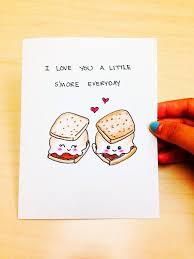 anniversary card anniversary card for boyfriend funny anniversary card for husband funny love card cute love card smore card pun card