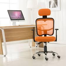 high back ergonomic mesh computer desk task office chair lying down rest orange