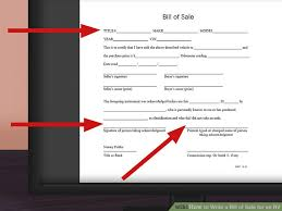 make a bill of sale how to write a bill of sale for an rv 11 steps with pictures