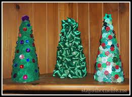 3 Easy Mini Christmas Tree Decorations  StayathomelifeFoam Christmas Tree Crafts