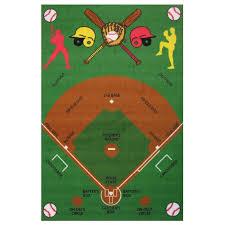 3 x 5 small baseball field multi color area rug fun time rc willey furniture