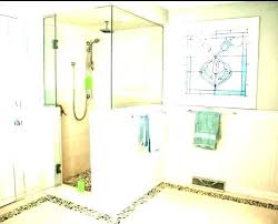 glass block half wall shower frosted glass shower wall panels best within half glass shower wall