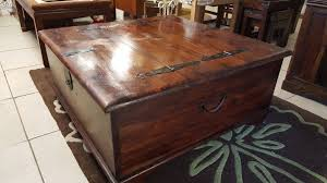 beautiful rustic solid oak chest coffee table