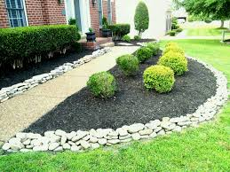 Rocks for Rock Garden  Marvellous Interesting Front Yard Landscaping Ideas  with Stones Small