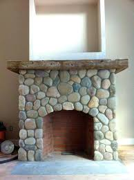 faux river rock fireplace surround stone fireplaces corner mantels living room traditional coffee