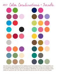 Wedding Color Chart Wedding Inspiration Board 2011 Wedding Color Trends Rob