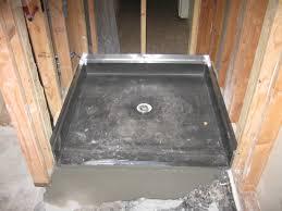 install shower base on tile floor designs