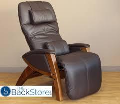 chocolate leather honey wood base svago sv400 lusso chair zero gravity ivory leather honey wood recliner