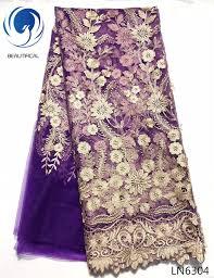 <b>Beautifical french</b> net <b>lace</b> embroidered nigerian <b>lace</b> fabrics purple ...