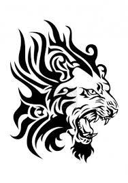 Fotka Ohnivé Lví Hlava Tetování 189725468 Fotobanka Fotkyfoto