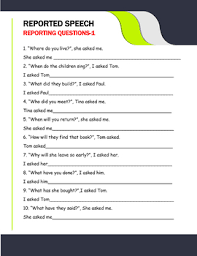 Reported Speech Chart Excellent Ppt To Learn And Teach Reported Speech Chart And Worksheets Key