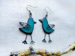stained glass birds on a wire bird earrings blue grass stained glass copper wire stained glass